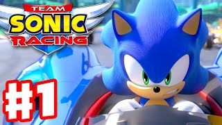Team Sonic Racing - Gameplay Walkthrough Part 1 - Chapter 1: The Mysterious Invite!