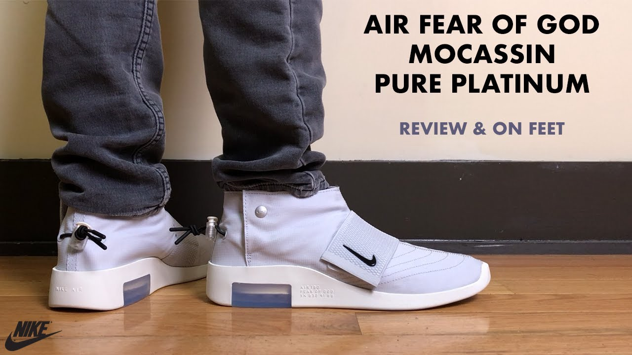 Nike Air Fear of God Moccasin Pure Platinum Review and On Feet