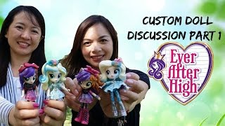 Comparing Custom Dolls Part 1 with Evie's Toy House