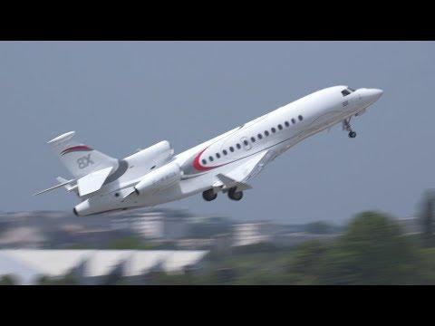 Dassault's Falcon 8X Business Jet Flies at Paris Air Show 2017 – AINtv Express