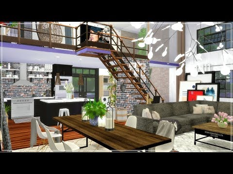 The Sims 4 | Apartment Build | Aesthetics Studio Loft Apartment (Speed Build) + CC Link / New Years