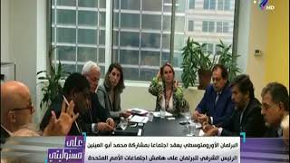 البرلمان الأورومتوسطي يعقد اجتماعا بمشاركة محمد ابو العينين على هامش اجتماعات الأمم المتحدة