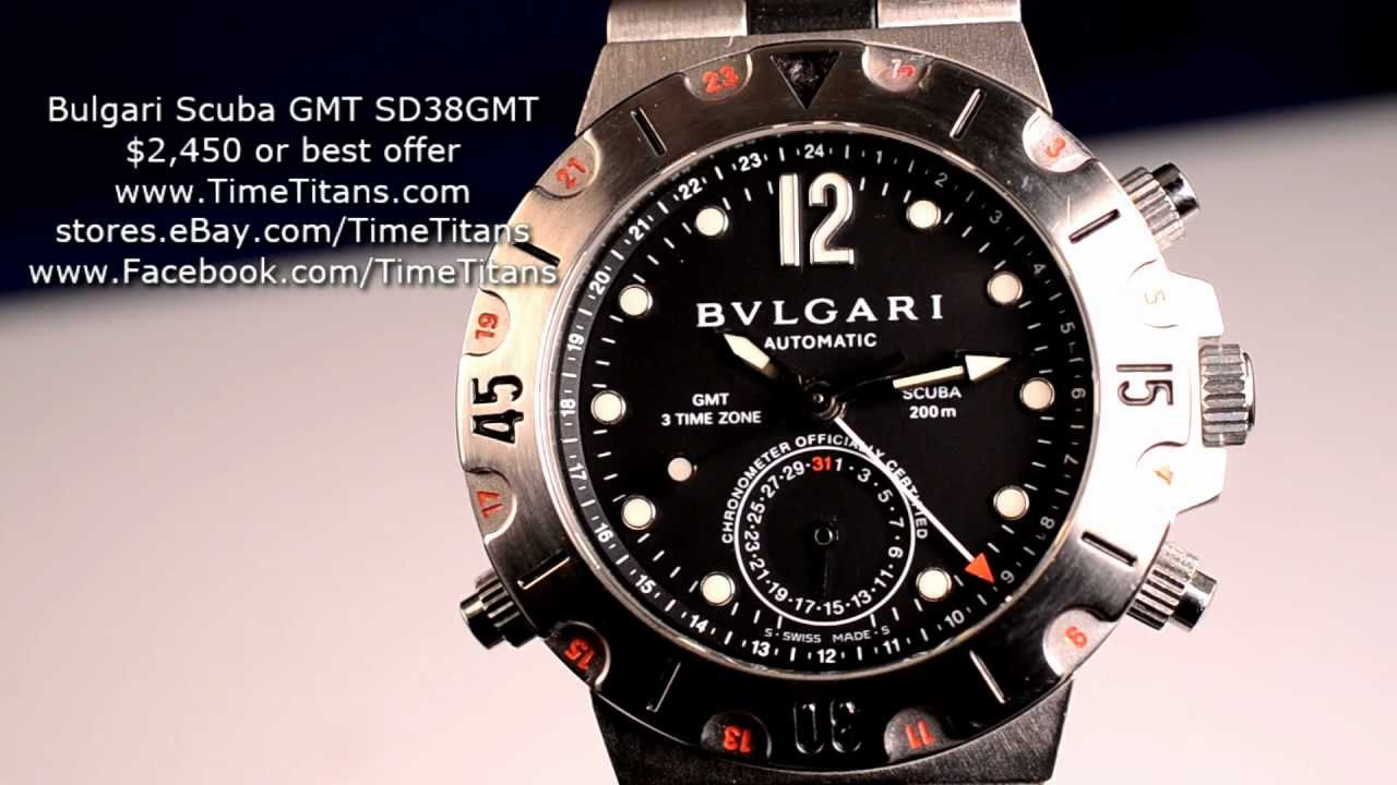 0af19f8ad86 Bulgari Scuba GMT SD38GMT Automatic 3 Time Zone 200M Diver - YouTube