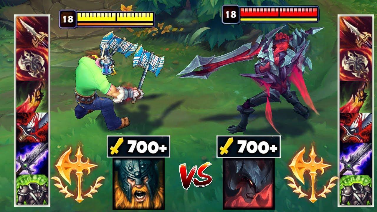 700 AD AATROX vs 700 AD OLAF FIGHTS & Best Moments!