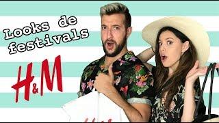 TRY-ON HAUL H&M avec NOEMIE LACERTE et NICOLAS BG  - 10 looks de festivals pas chers | billie