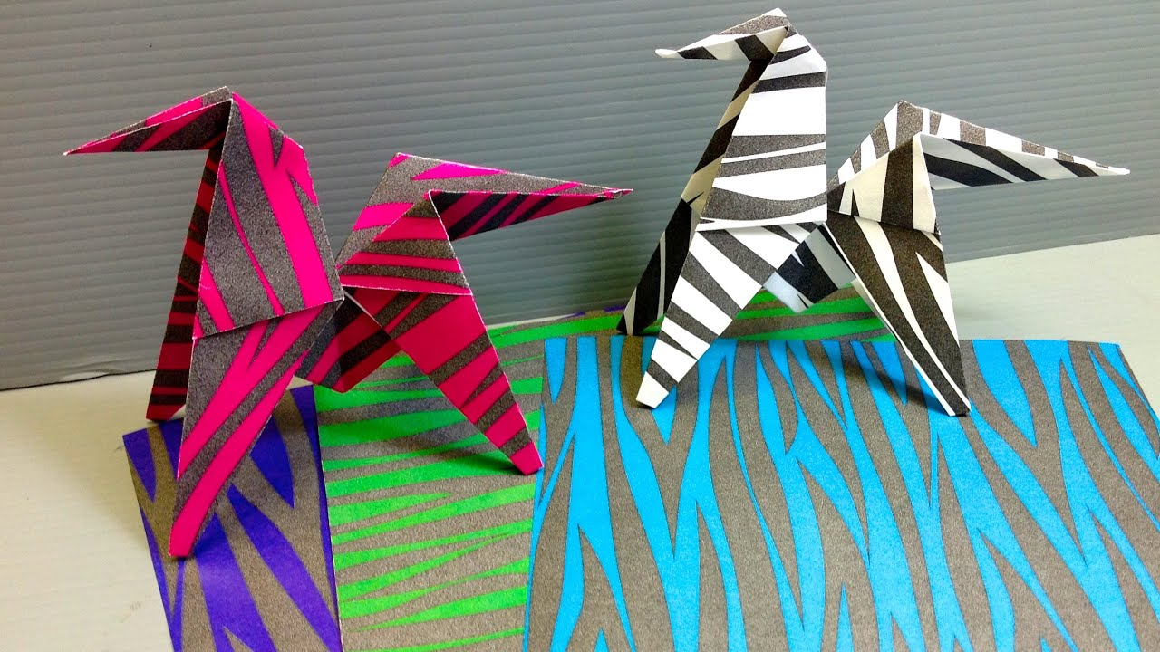 How To Make An Origami Zebra Instructions