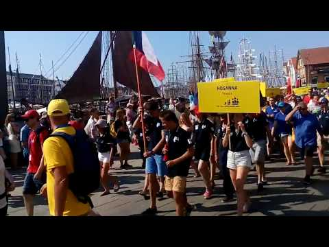 The tall ship races 2018 #crew parade #Staveger, Norway