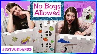 No Boys Allowed Girls Only Box Fort! / JustJordan33