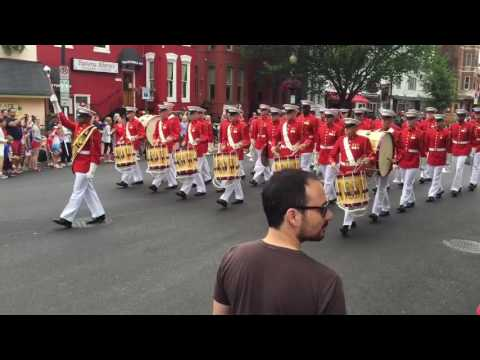 The Marine Corps Band leads July 4th Neighborhood Parade on Capitol Hill