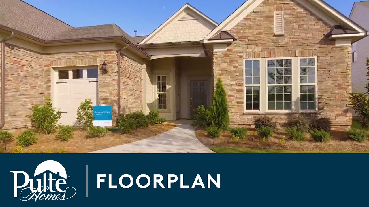 New homes by pulte homes dunwoody way floorplan youtube for Home by home