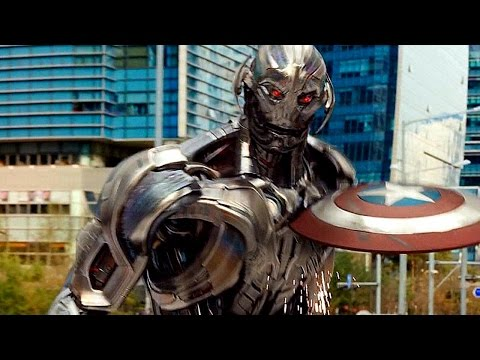Captain America vs Ultron - Fight Scene - Avengers: Age of U