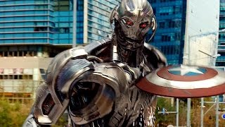 Captain America vs Ultron - Fight Scene - Avengers: Age of Ultron - Movie CLIP HD thumbnail