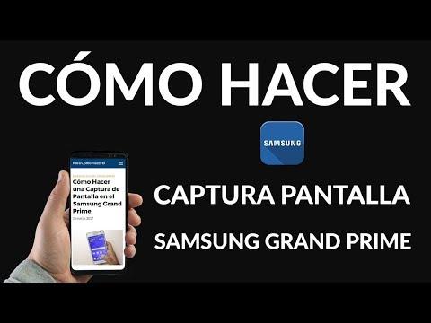 ¿Cómo Hacer una Captura de Pantalla en un Samsung Grand Prime?