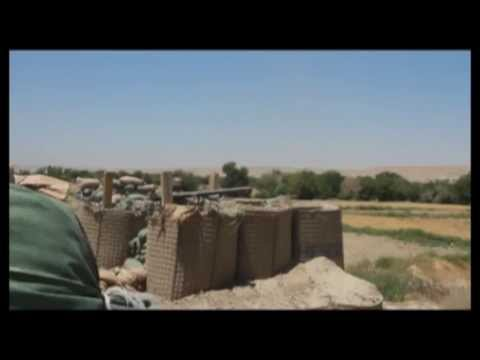 Afghan Soldier Fires Recoilless Rifle - Afghan Security Forces Combat Taliban in Sangin District