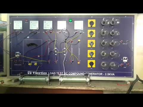 Learn Electrical Machine Online Free   DC Compound Generator Panel