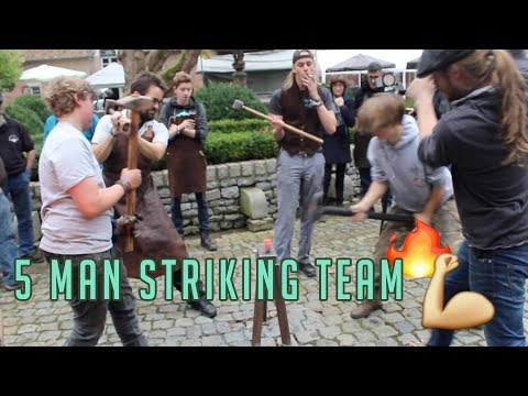 "5 MAN STRIKING TEAM - Forging at ""Ijzer wordt kunst"""