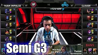 Team Impulse vs Cloud 9 | Game 3 Semi Finals S5 NA LCS Regional Qualifier for Worlds | TIP vs C9 G3