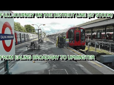 Full Journey On The District Line S7 Stock From Ealing Broadway To Upminster