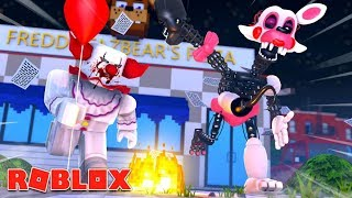 Mangle and Her Boyfriend Get Chased By Killer Clowns!!! (Roblox Roleplay)