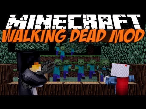 Walking Dead Mod: Minecraft Crafting Dead Mod Showcase!