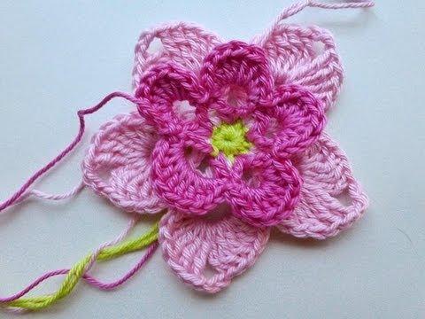 Adventskalender 22 Dezember 2012 Häkelblüte Magnolia Youtube