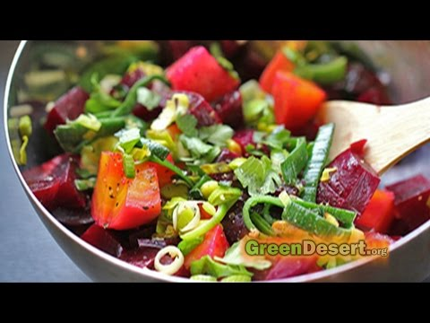 Wonderful organic beet salad how-to