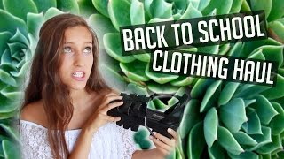 HUGE TRY-ON BACK TO SCHOOL CLOTHING HAUL! 2015 ♥︎