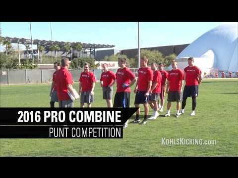 2016 Kohl's Pro Kicking Combine | Punt Competition