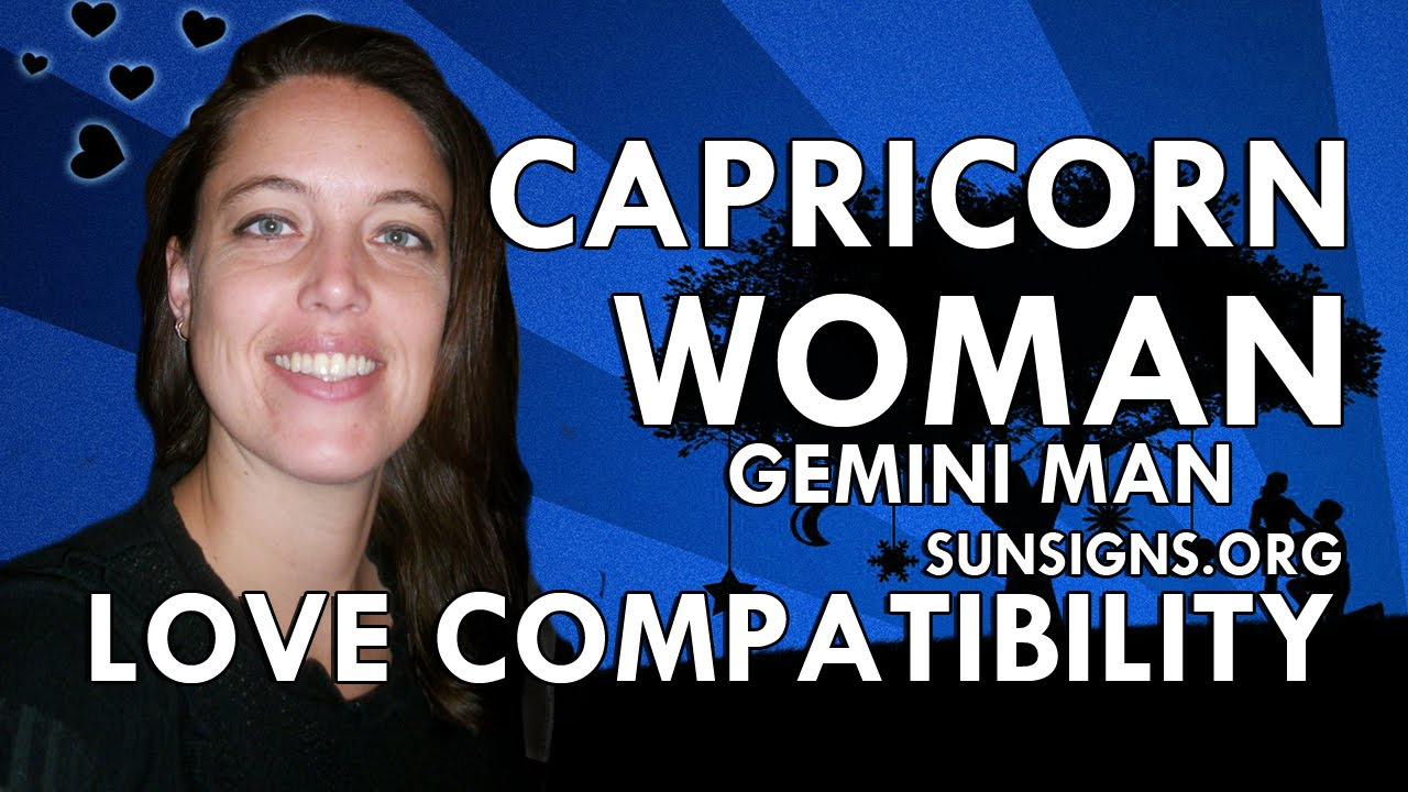 Gemini man capricorn woman marriage compatibility