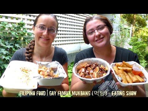 Filipino Food | Gay Family Mukbang (먹방) - Eating Show