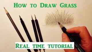 How To Draw Grass, Peฑcil Drawing Tutorial, Graphite Pencil Drawing Tips