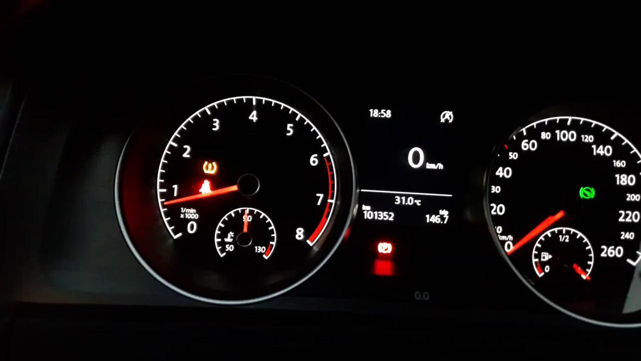 volkswagen araçlarda lastik basınç sensörü arıza işareti - youtube