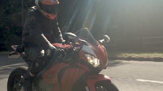 #Slipstream S1 Ep1 Visor Downs Harry Mckenzie on his #Honda #Fireblade