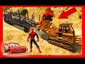 Spiderman MCqueen Truck Trailer Cartoons for children Nurser Rhymes kids song cars