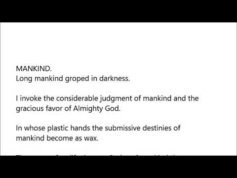 MANKIND word in sentence with pronunciation
