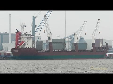 3 crane seaship EGMONDGRACHT PDWG IMO 9081320 BJ 1994 Emden Kranschiff