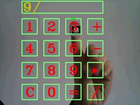 TouchFree Calculator (OpenCV + ARToolKit)