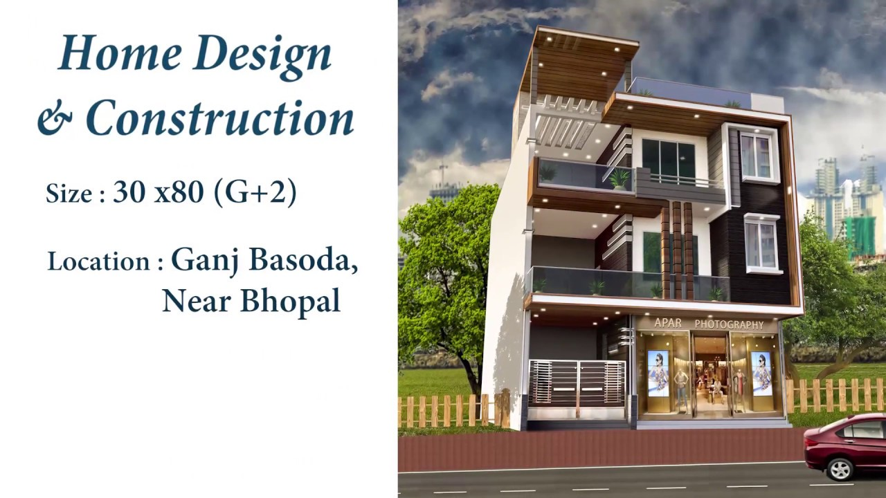 Multistorey house 30 x 80 plot 7200 sq ft for 82 8 lakh elevation home plan construction