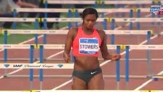 2015 Diamond League Rome women 100m hurdles: Nelvis in 12.52; Stowers & Pearson crash