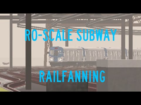 Bonus! ROBLOX Ro Scale Subway Railfanning (Re-edited Ver.)