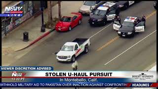 MUST WATCH: Woman, man surrender following stolen U-Haul pursuit in LA (FNN)