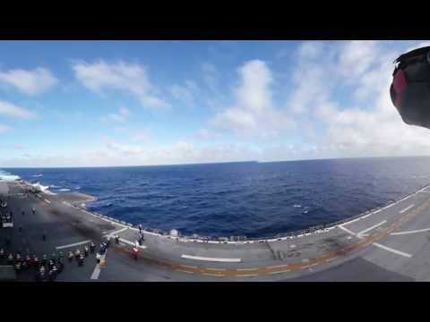 F-35 DT-III Ship Trials 360-Degree Video