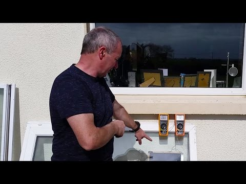 Solar Hot Water .. Using an Old pvc window makes tons of heat