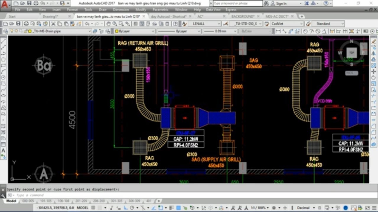 Tìm hiểu bản vẽ hệ thống máy lạnh giấu trần nối ống gió gồm những gì và hoạt động ra sao?