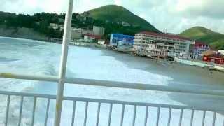 Шторм Ольгинка Пляж(, 2014-09-25T20:09:17.000Z)
