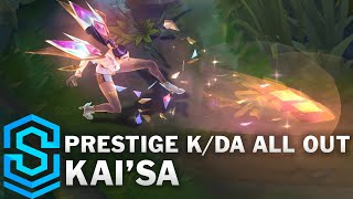 Prestige K/DA ALL OUT Kai'Sa Skin Spotlight - Pre-Release - League of Legends