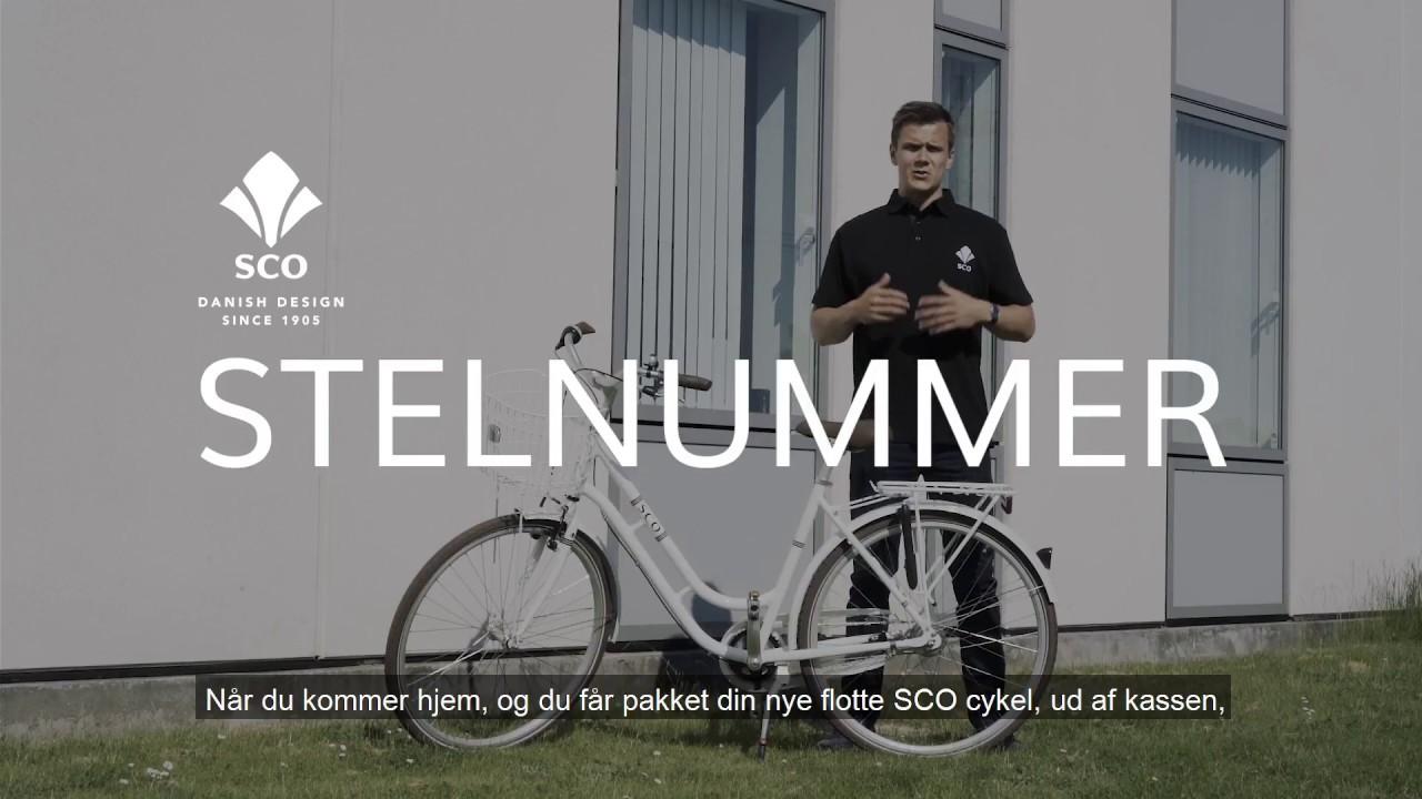 hvor finder man stelnummer på cykel