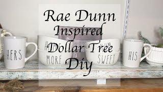 DOLLAR TREE DIY RAE DUNN INSPIRED BOWLS AND MUGS