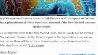 NEW MADRID EARTHQUAKE SPLIT THE UNITED STATES IN TWO