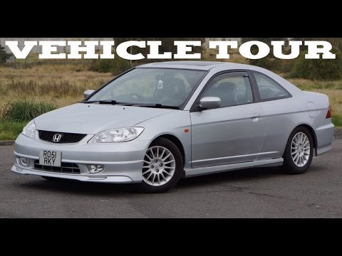 2001 honda civic coup em2 rhd full vehicle exterior and interior tour startup and. Black Bedroom Furniture Sets. Home Design Ideas